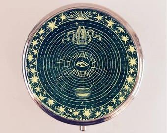 Eye Tarot Pill Box Case Pillbox Holder Trinket Stash Box Occult Card