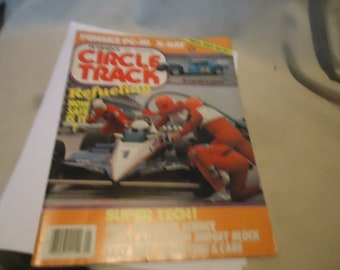 Vintage January 1983 Petersen's Circle Track Refueling How Safe Is It? Magazine Volume 2 Number 1, collectable