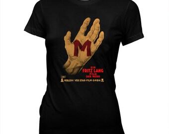 Fritz Lang's M - Peter Lorre - Women's Hand silk screened, pre-shrunk 100% cotton t-shirt
