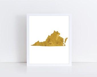 Virginia - États-Unis  - Art numérique, Art mural , Affiche déco