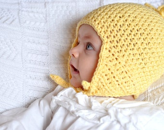 Crochet Pattern: Baby Earflap Hat for Boys and Girls (PDF)