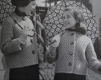 1960's Vintage Knitting PDF Pattern Women's or Girls' Sweater 6405