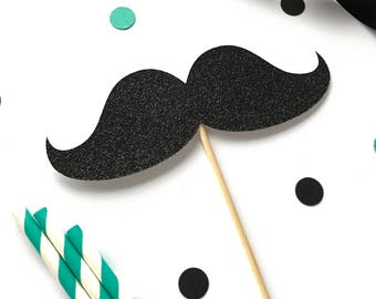 Mustache cake topper - first birthday - little man birthday party - fathers day cake topper - baby shower - gender reveal