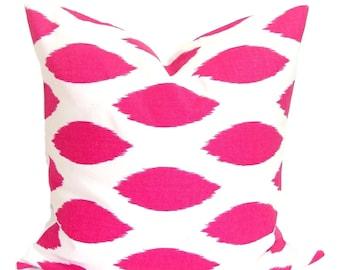 PINK PILLOW.20x20 inch.Pillow Cover.Decorative Pillows.Pink Throw Pillow Cover.Housewares.Pink Throw Pillow.Pink Ikat Pillow. Pink Cushion