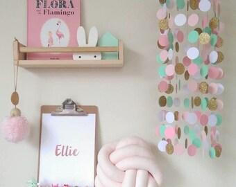 Real Foil Print  Custom Name Print  Wall Art  Nursery Decor  Kids Room