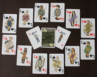 The Walking Dead Playing Cards - 54 Card Deck - Great Gift TWD