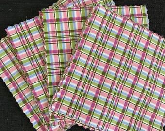 """Plaid 100% Cotton Charm Pack 5"""" Squares- 42 Pieces"""