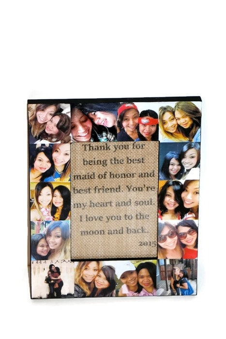 Very best Personalized Message Photo Collage Frame, Custom Quote, Unique  GA17