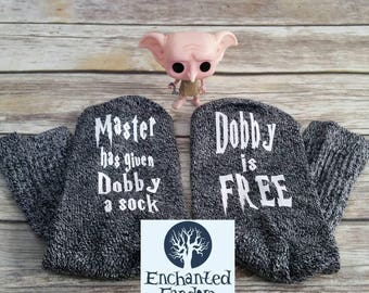Master has given Dobby a sock, dobby is free, Dobby socks, reader gift, bookworm, bookish, bookstagram, book lover, bookish merch, hp