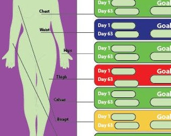 21 Day FIX results tracker and workout schedule