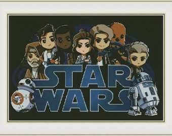 Mini Star Wars - PDF cross stitch pattern