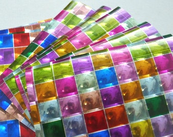 3D Pattern of Check - Poly Paper Pack for Origami Project- 10 sheets