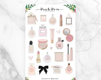 Perfume Makeup Planner Stickers