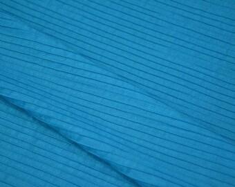 Plain Blue Pintuck Fabric