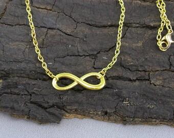 Bracelet Necklace Infinity Gold