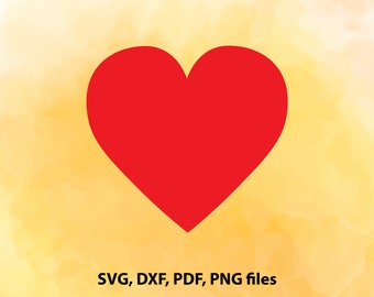 Heart, Love, SVG, DXF, PDF and Png Cutting files for Cutting machines, Cricut explore, Silhouette cameo, Design, Instant Download