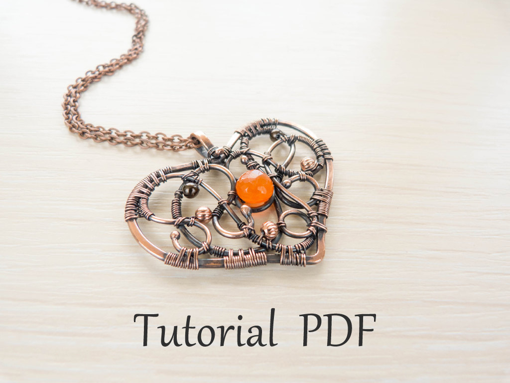 Jewelry tutorial diy project pdf tutorial wire wrapped zoom baditri Images