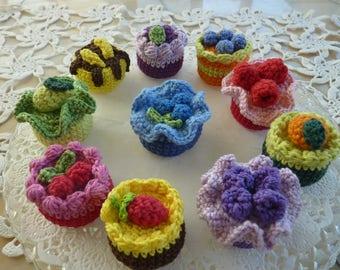 Appetite, Small cake crochet cupcake crochet