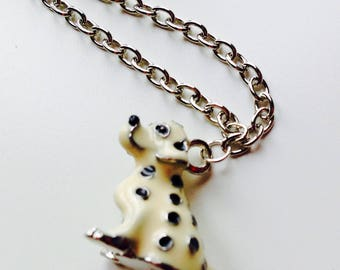 Dalmatian | Puppy | Dog | Enamelled | Necklace