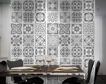 Tile Stickers   Tiles Decals   Grey Scale   Tiles For Kitchen   Kitchen  Splash Back