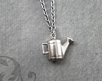 Watering Can Necklace SMALL Water Can Jewelry Gardening Tool Gardening Jewelry Gardener Gift Garden Jewelry Spring Jewelry Summer Jewelry