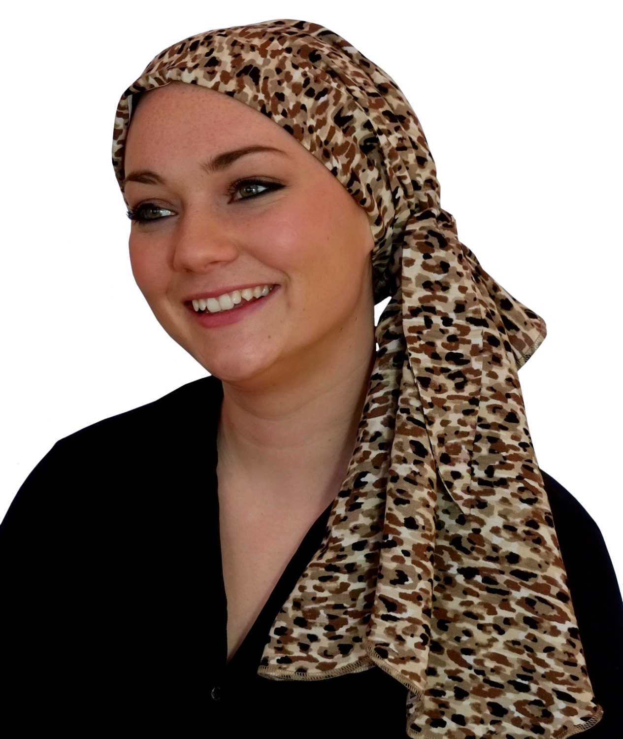 how to make a pre tied head scarf