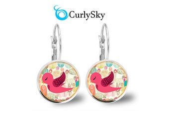 Pink Bird Earrings Cute Pink Bird Earrings Pink Bird Earrings Cute Bird Jewelry Pink Bird Earrings Pink Bird Jewelry Cute Bird Earrings