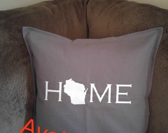 Home state throw pillow, Home pillow, Home state pillow, pillow case, home pillow case