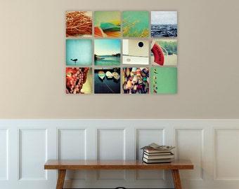 nautical art // beach wall decor // ocean photography art set // - set of twelve canvas art prints