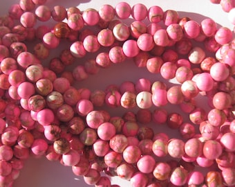 agate beads 10 colored 6 mm (7-10) different colors