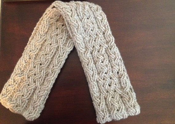 Crochet Scarf Pattern Milan Cable Braided Scarf Crochet Pattern For