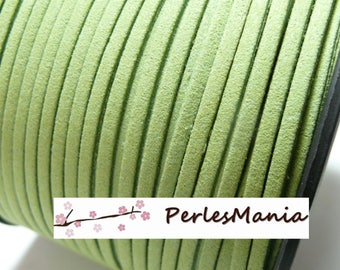 10 meters of pistachio green suede PG0135 quality suede cord
