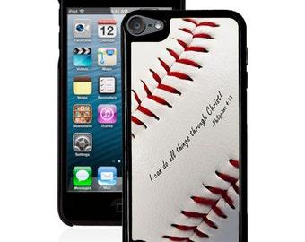 Philippians 4:13 Baseball iPod 5g case, bible verse scripture ipod case 4g 5g  faith iPod case 5g & 4g
