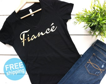 Fiance T-Shirt,Bridal Shower Gift, Wifey Shirt, Bride Shirt, Fiance Shirt, Bride to Be,