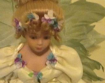 Vintage Porcelain Ballerina Doll Representing the Spring Season