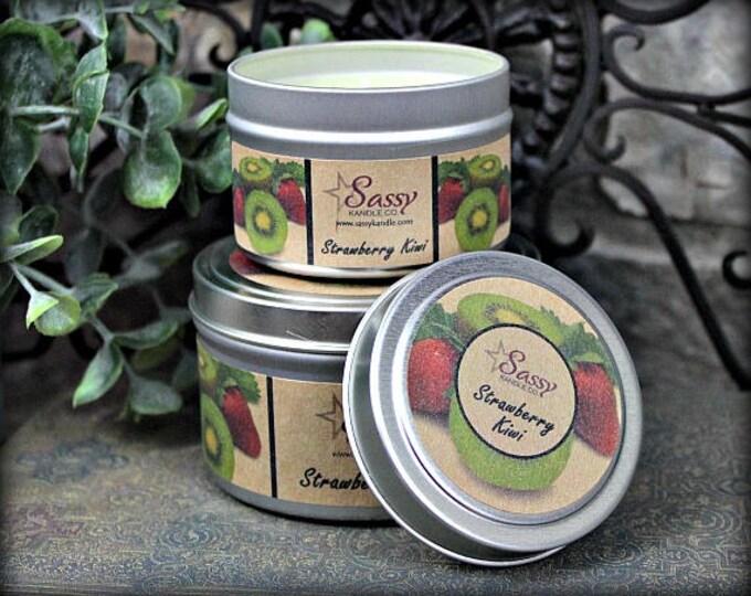 STRAWBERRY KIWI   Candle Tin (4 or 8 oz)   Sassy Kandle Co.