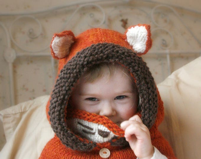 Fox hooded cowl Rene (baby, toddler, child or adult size)