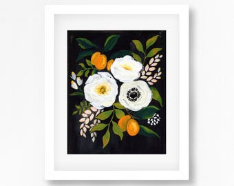 Black and white kumquat Floral