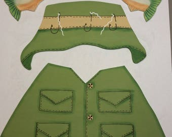 Hand Painted Interchangeable, Seasonal Fishing Outfit only