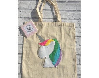 Unicorn tote bag, christmas gift, unicorn bag, unicorn gift, gifts for her, stocking filler
