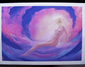 SALE 50% OFF - Innocence - digital painting print, 13.6 x 20 inches