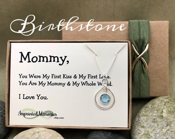 First Mother's Day gift 2018 - New Mom Necklace Mother's Day gift for Wife First Child Birthstone Necklace First Time Mom Happy Mother's Day