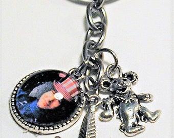 Grateful Dead / Jerry Garcia Inspired Charm Key Ring #2