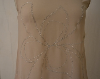 Silver Flowered Top