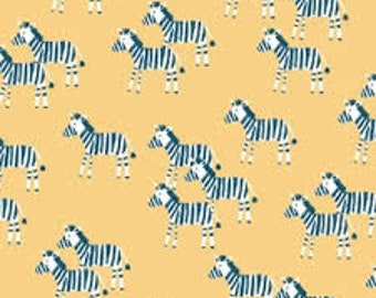 """Zebra in aspen, welcome to the jungle, Dear Stella fabric, By the Half Yard, 44"""" wide, 100% cotton, novelty fabric, quilting fabric"""