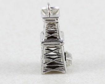 Sterling Silver Oil Rig Charm