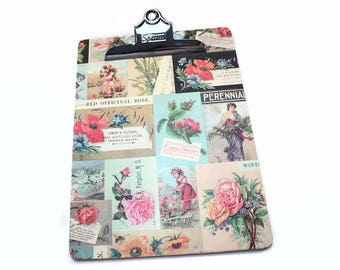 Clipboard, Floral, Flower, Decorative, Office Organization, List Holder, Office Decor, Dorm Decor, Nurse Gift, Teacher Gift, Clip Board,