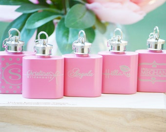 Personalized Ladies Flask, Maid of Honor Gift, Bridesmaid, Monogrammed Gift, Bridal Party, Maid of Honor, Customized Gift, Bridal Party Gift