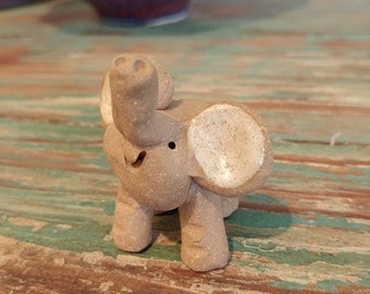 Elephant Ceramic Little Guys Figurine
