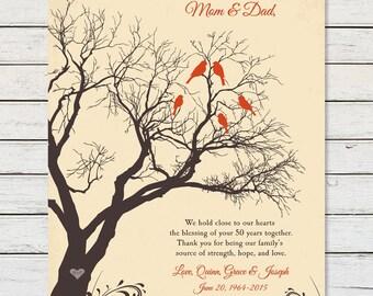 GOLDEN ANNIVERSARY, Anniversary Printable, 50th ANNIVERSARY, Anniversary Gift for Parents, Parents Anniversary, Grandparents Anniversary